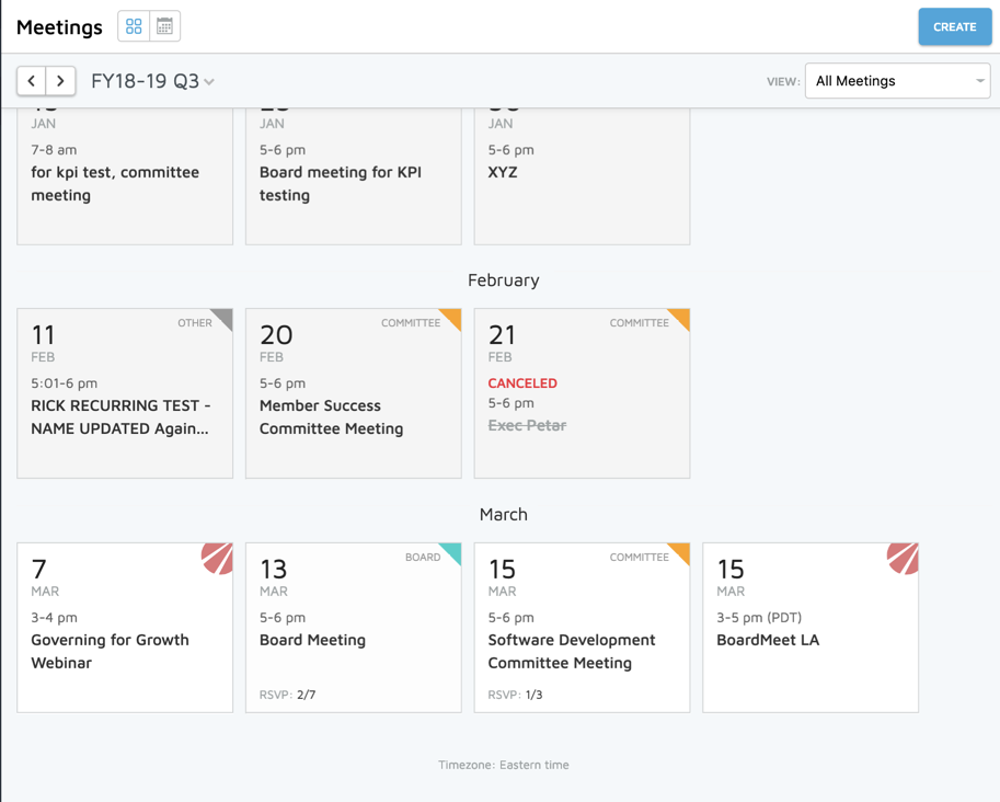 Calendar Updates to Keep Your Board On Track - BoardOnTrack